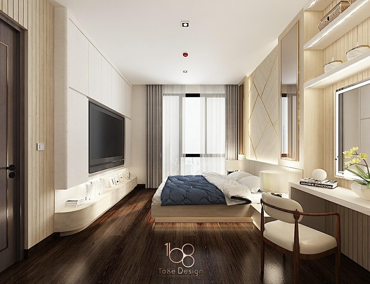 ออกแบบตกแต่งภายใน-เรียบหรู-ห้องนอน